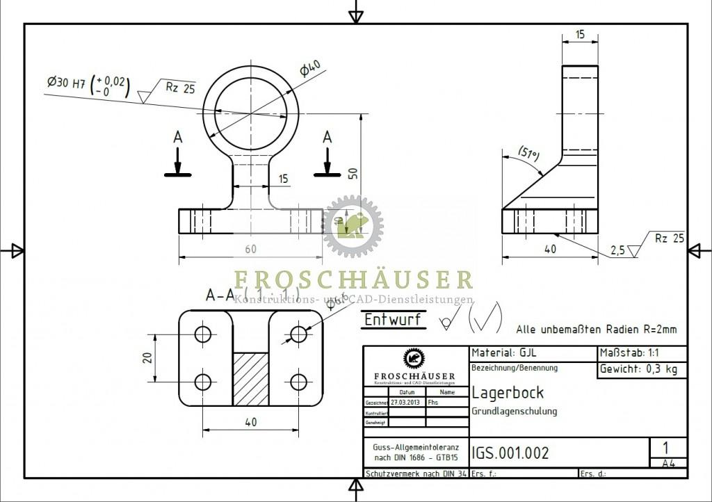 Inventor Grundlagenschulung - technische Zeichnung