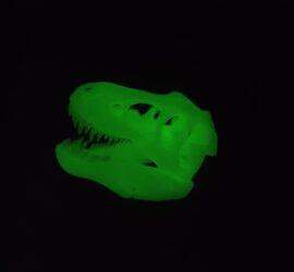 leuchtender T-Rex Schädel
